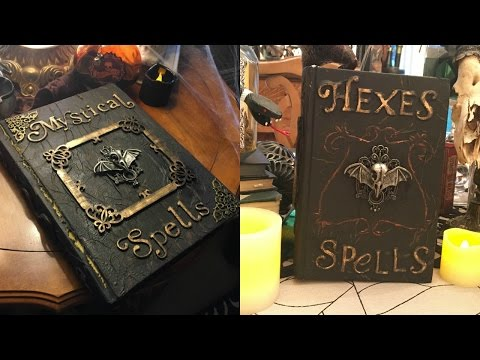 Home Page Video DIY Halloween Spell Books!