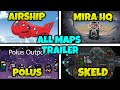 All Maps Trailers in Among Us Comparison