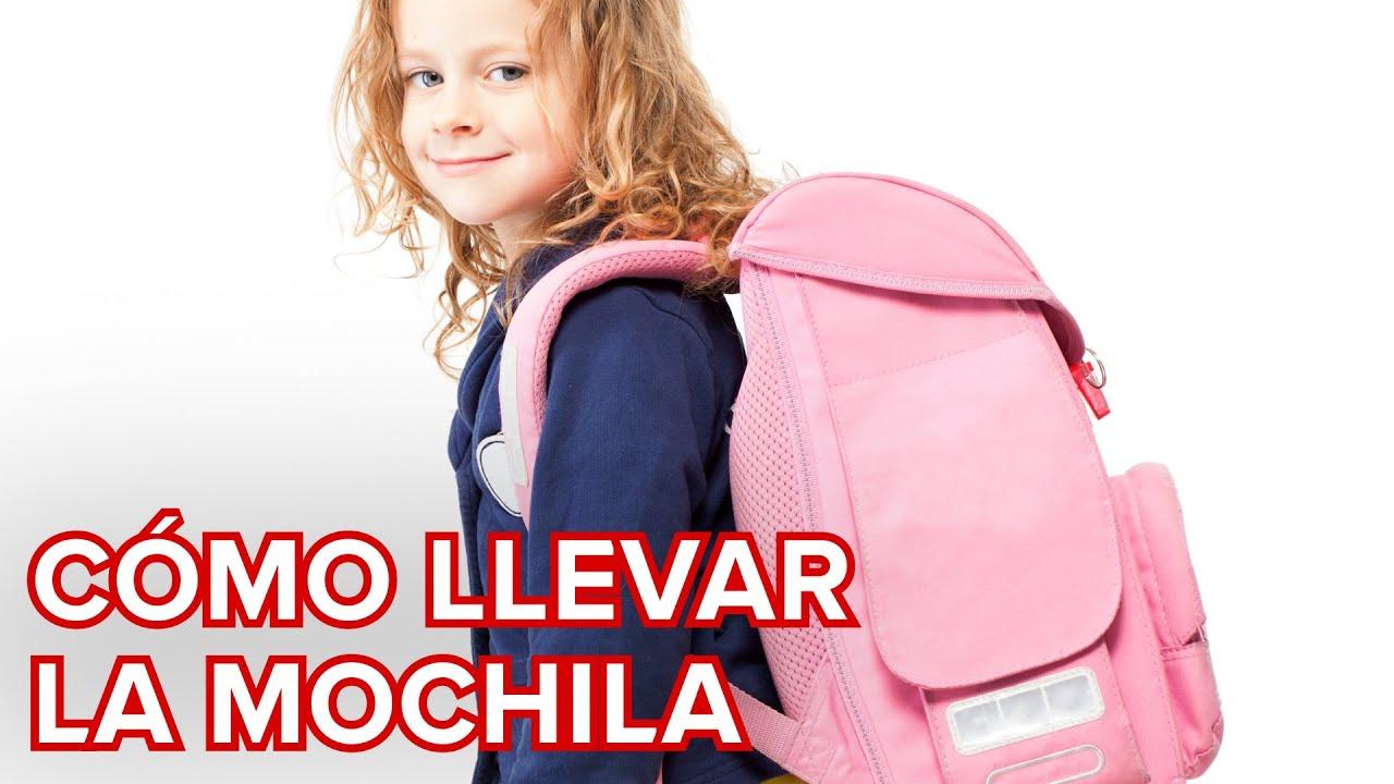 Cómo deben llevar la mochila los niños para evitar lesiones de espalda