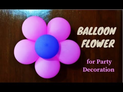 Balloon Flower | Balloon Decoration Ideas for Birthday Party at Home | Party Decorations |Craftastic