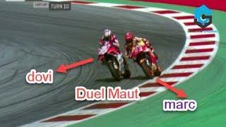 Gagal Total ! Aksi Gila Marquez 4 kali Kecolongan di Lap Terakhir, Dovizioso Juara