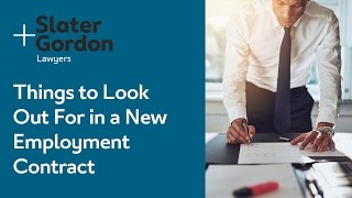 Things to Look Out For in a New Employment Contract