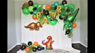 Dinosaur Balloon Garland DIY | How To | Tutorial