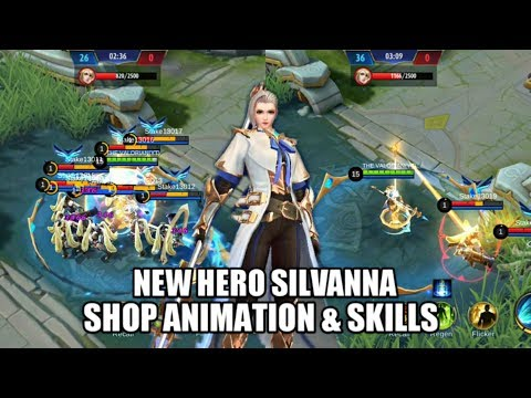 MOBILE LEGENDS NEW HERO SILVANNA • SKILL EXPLAIN AND SHOP ANIMATION
