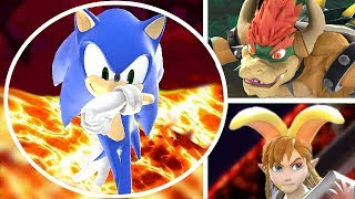 Who Can Survive the Lava Pool in Super Smash Bros Ultimate (All Characters Vs. Pool is Lava)