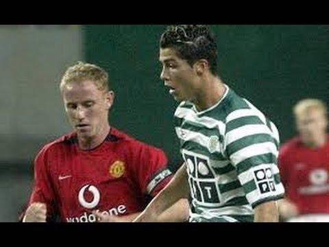 Первая встреча  Криштиану Роналду с  Манчестер Юнайтед 2003 г. видео