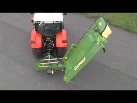 How to set up a KRONE disc mower