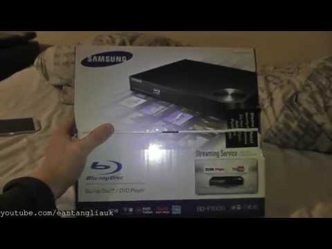 Unboxing Cheap Budget Samsung BD-F5100 Blu-ray and DVD Player Plus Playing With It