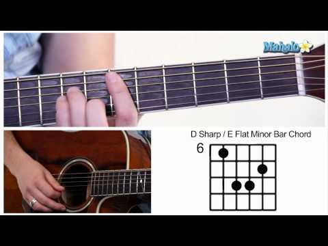 How to Play D Sharp / E Flat (D# / Eb) Bar Chord on Guitar (6th Fret)