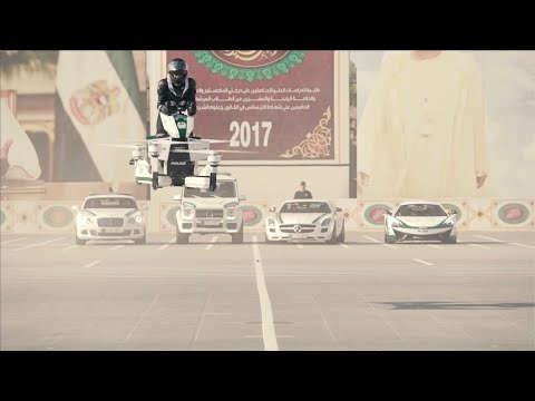 The Dubai Police Unveil Their New Hoverbike That Allows Them To Patrol The Street 16 Feet Above The Ground