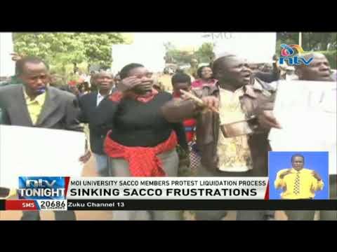 Moi University SACCO members protest liquidation process