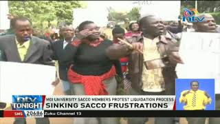Moi University SACCO members protest liquidation process