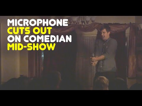 Mic cuts out on comedian mid-show, and a motherly audience member intervenes