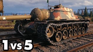 T110E3 - 11 Kills - 1 vs 5 - World of Tanks Gameplay