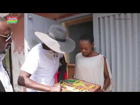 Olajumoke receives her Special Celebrity Pack from Indomie