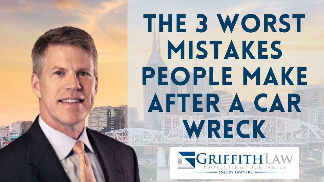What are the 3 worst mistakes people make the first month following a car wreck?