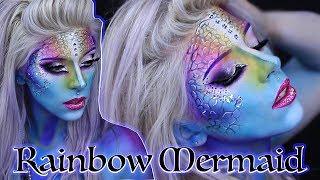 Rainbow Mermaid Makeup Tutorial