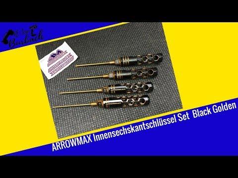 """Arrowmax Allen Wrench (Innensechskant) Set """"Black Golden"""" Vorstellung (deutsch)"""