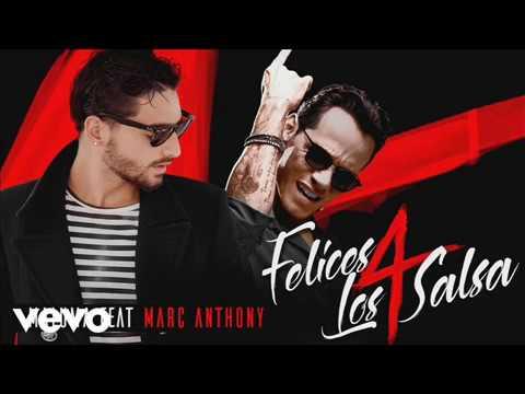 Marc Anthony - Felices Los 4 (Salsa) Ft. Maluma 2017 Video Liryc