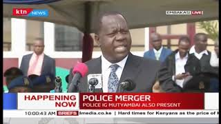 CS Matiang'i address during AP handover to Kenya Police