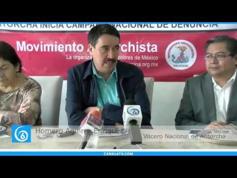 Conferencia de prensa del Movimiento Antorchista en la Ciudad de México