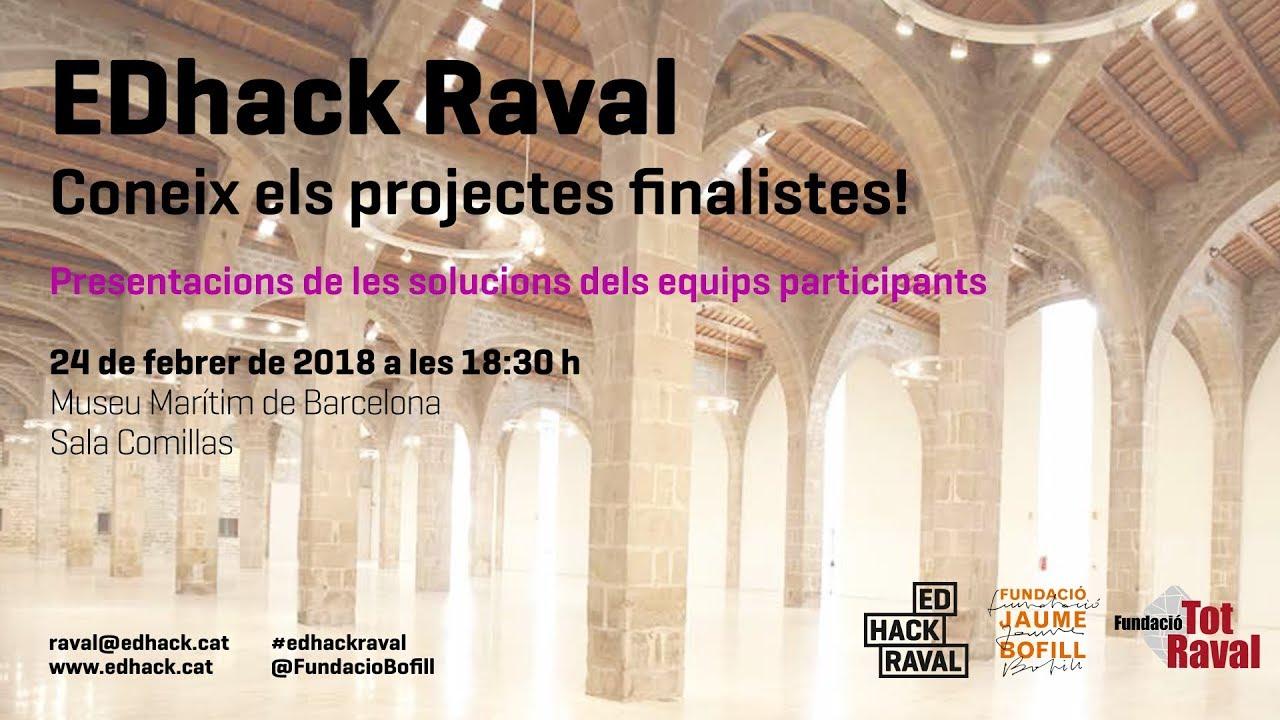 EDhack Raval. T'atreveixes a hackejar l'educació al Barri del Raval? (streaming)