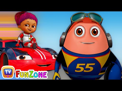 Learn Colours with Race Cars & Surprise Eggs Car Toys - ChuChu TV Funzone 3D Motorsports
