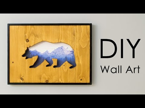DIY Wall Art: Reclaimed Wood Cut-Out with a Picture within