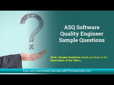 Get Complete Detail on ASQ Certified Software Quality Engineer ...