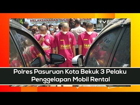 Polres Pasuruan Kota Bekuk 3 Pelaku Penggelapan Mobil Rental