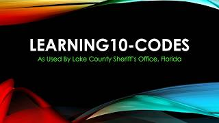 Learning 10 Codes