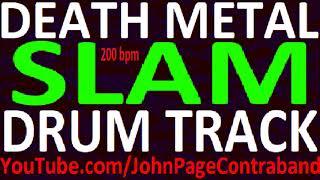 Slam Death Metal Drum Backing Track 200 bpm FREE