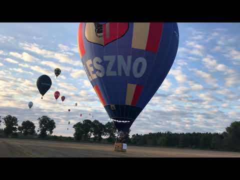 Wideo1: Balonowe MP w Lesznie. Poranny lot