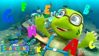 ABC Song SHARKSONS NEW! | Nursery Rhymes & Kids Songs! | Cartoons For Kids | The Sharksons