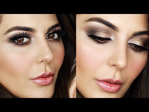 Golden Brown Smokey Eye Makeup Tutorial 2017