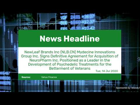 NewLeaf Brands Inc (NLB.CN) Mydecine Innovations Group Inc.  ... Thumbnail