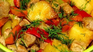 Вкусно - #ЖАРКОЕ с Мясом и Овощами в Горшочках ЖАРКОЕ в Духовке #РЕЦЕПТ