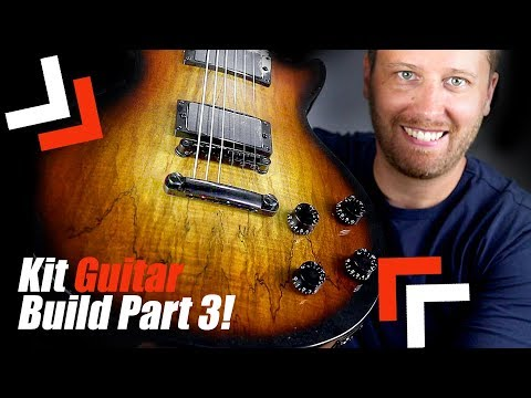 Building a LES PAUL Guitar Kit! - Assembly and Tone Test!