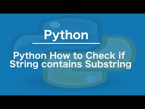 Python How to Check if string contains substring