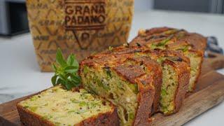 Cake apéritif facile et moelleux au Grana Padano et petits légumes verts