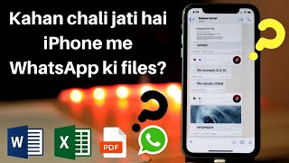 How to locate documents received via WhatsApp in iPhone?