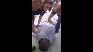 NYPD Cops choke Black man to death for selling a 50 cent Cigarette ! ... Extended Footage