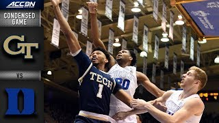Duke vs. Georgia Tech Condensed Game | 2018-19 ACC Basketball