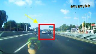 Highway Car accident kvish hachof 2 mazda hits skoda 16.6.17    תאונה כביש החוף מאזדה פוגע בסקודה