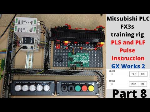Mitsubishi PLC FX3s training rig / Programming, PLS and PLF pulse ...