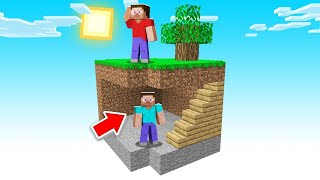 The BEST HIDING SPOT In Minecraft SKY BLOCK! (hilarious)