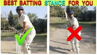 How to Take a Proper Batting Stance in Cricket  !!  Cricket Tips For Beginners  !!
