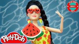 Play Doh Barbie (Raquelle)  Katy Perry - This Is How We Do Inspired Swimsuit Play-Doh Craft N Toys