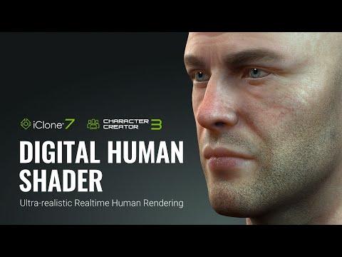 iClone 7 & Character Creator 3 - Digital Human Shader for Realtime Rendering
