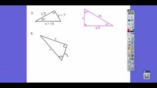 Special Right Triangles - Module 18.3 (Part 2)
